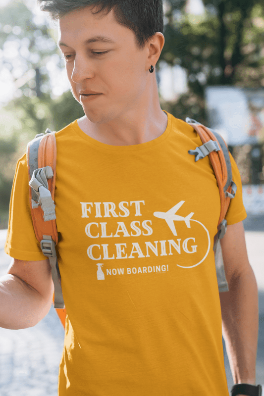 First Class Cleaning Savvy Cleaner Funny Cleaning Shirts Classic T-Shirt