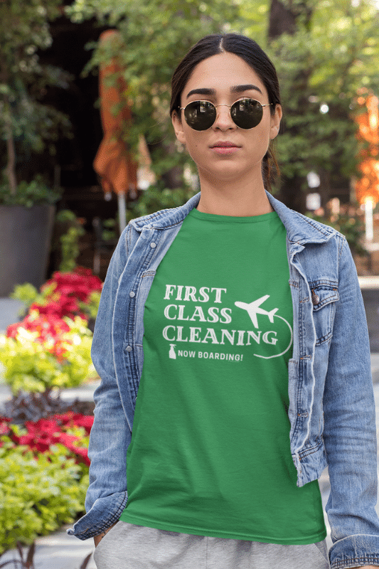 First Class Cleaning Savvy Cleaner Funny Cleaning Shirts Standard T-Shirt