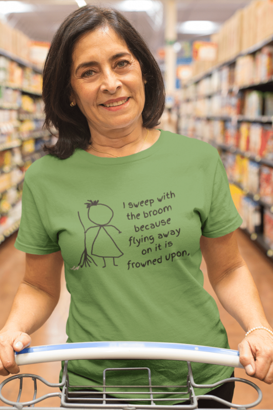 Frowned Upon Savvy Cleaner Funny Cleaning Shirts Women's Standard T-Shirt