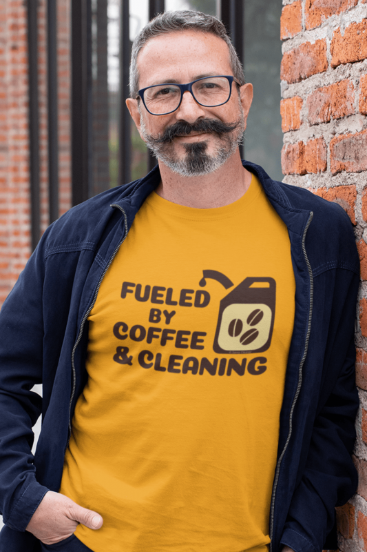 Fueled by Coffee Dark Savvy Cleaner Funny Cleaning Shirts Classic T-Shirt