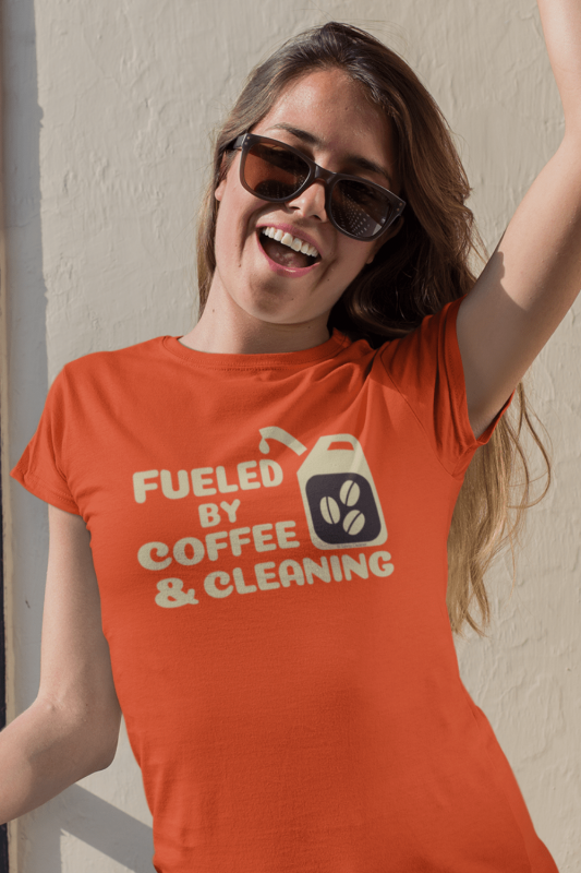 Fueled by Coffee Dark Savvy Cleaner Funny Cleaning Shirts Standard Tee