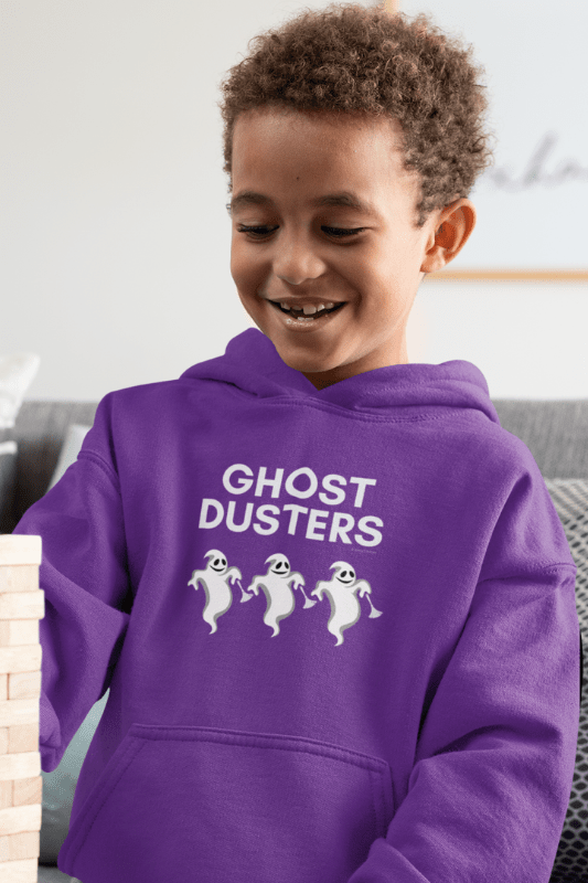 Ghost Dusters, Savvy Cleaner Funny Cleaning Shirts, Kids Classic Pullover Hoodie