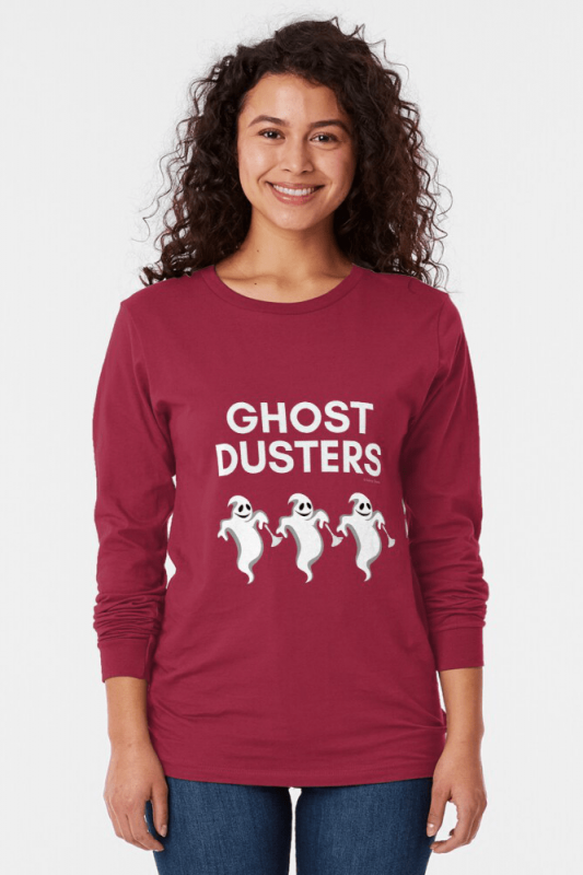 Ghost Dusters, Savvy Cleaner Funny Cleaning Shirts, Long Sleeve Shirt