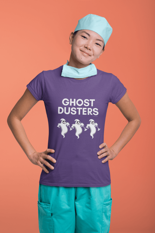 Ghost Dusters, Savvy Cleaner Funny Cleaning Shirts, Women's Classic Tee