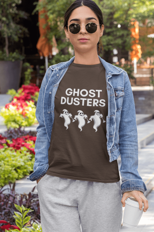 Ghost Dusters, Savvy Cleaner Funny Cleaning Shirts, Women's Standard Tee