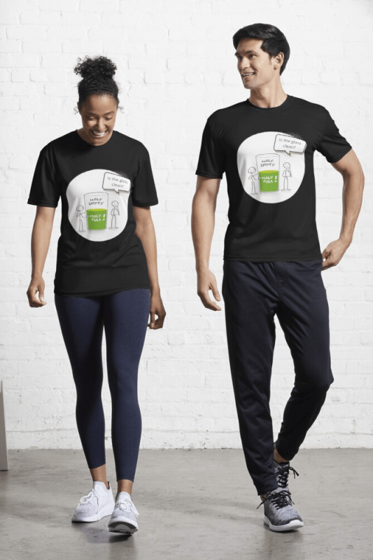 Glass Half Empty, Savvy Cleaner Funny Cleaning Shirts, Active shirt