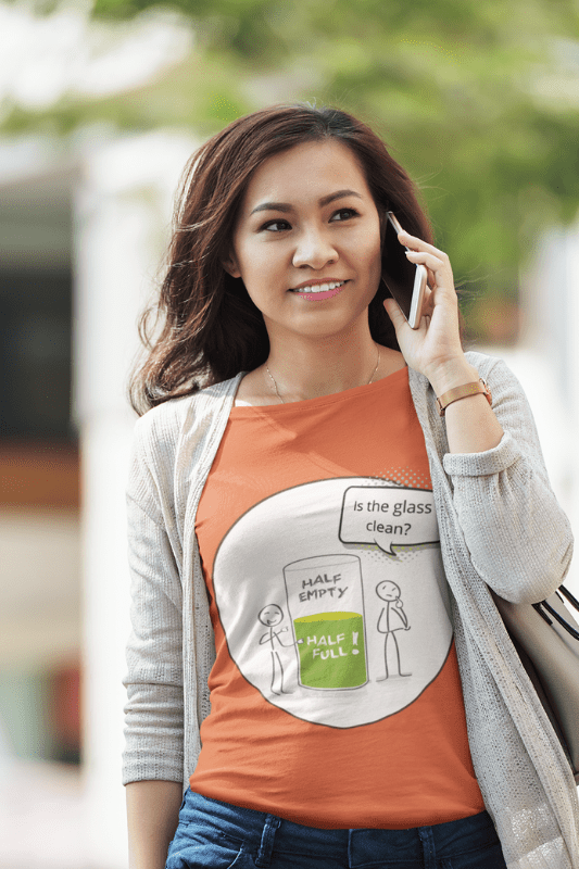 Glass Half Empty, Savvy Cleaner Funny Cleaning Shirts, Comfort Tee
