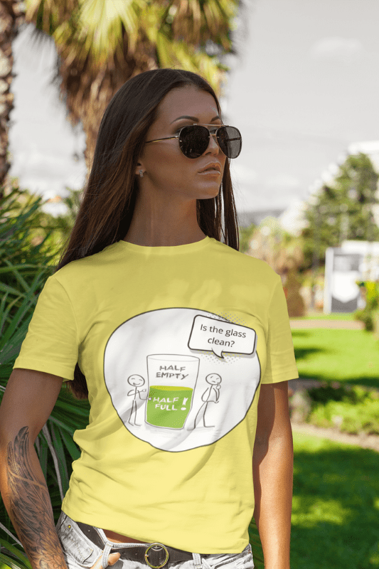 Glass Half Empty, Savvy Cleaner Funny Cleaning Shirts, Standard T-Shirt