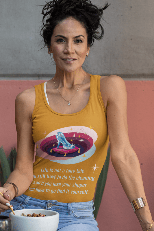 Glass Slipper, Savvy Cleaner Funny Cleaning Shirts, Tank Top
