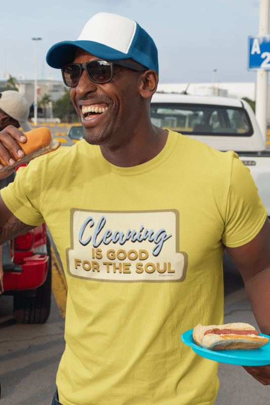 Good for the Soul Savvy Cleaner Funny Cleaning Shirts Men's Standard Tee