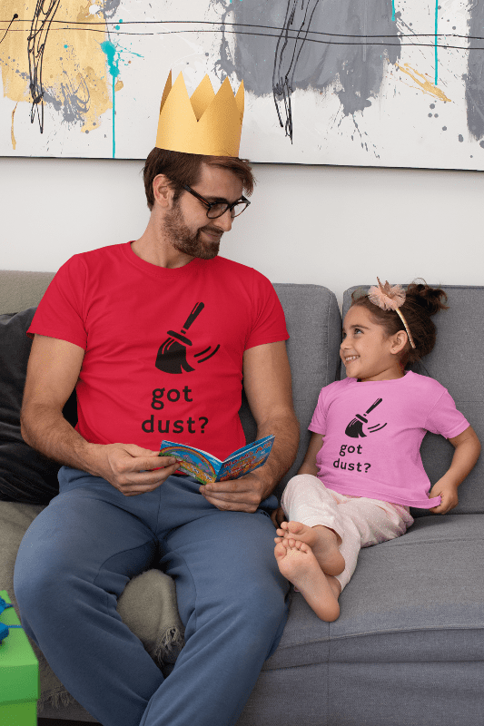 Got Dust, Savvy Cleaner T-shirt, Man in Red