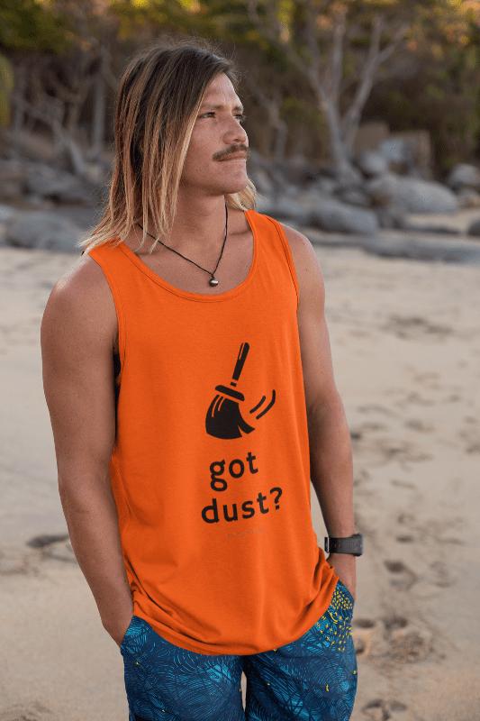 Got Dust, Savvy Cleaner Tank-Top, Man in Orange