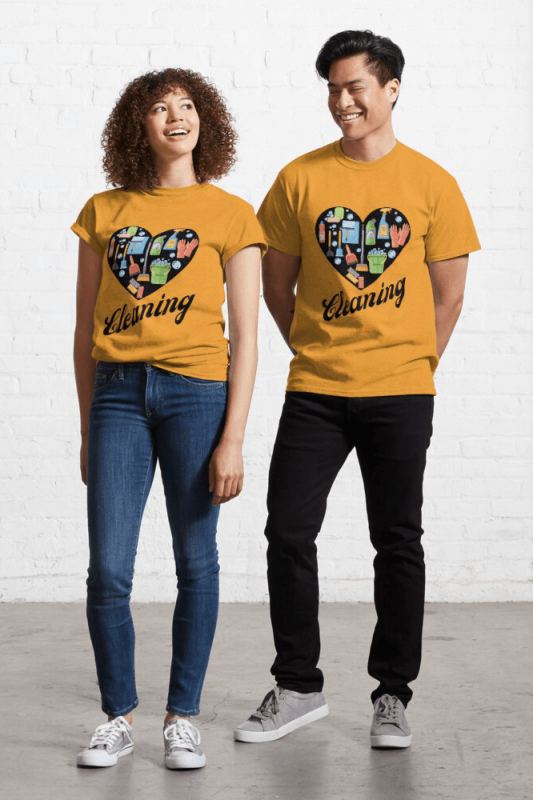 Heart Cleaning, Savvy Cleaner Funny Cleaning Shirts, Classic Shirt