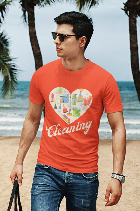 Heart Cleaning, Savvy Cleaner Funny Cleaning Shirts, Comfort T-Shirt