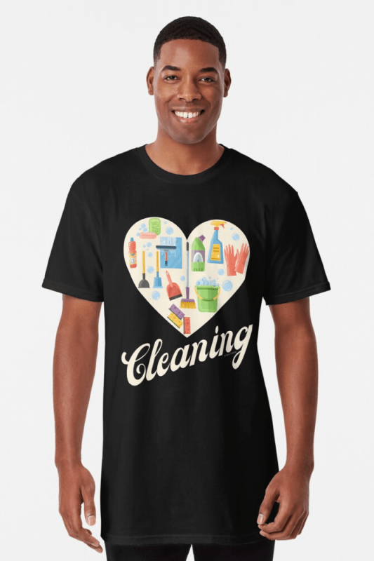 Heart Cleaning, Savvy Cleaner Funny Cleaning Shirts, Long Shirt