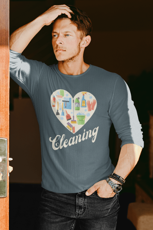 Heart Cleaning, Savvy Cleaner Funny Cleaning Shirts, Premium Long Sleeve T-Shirt