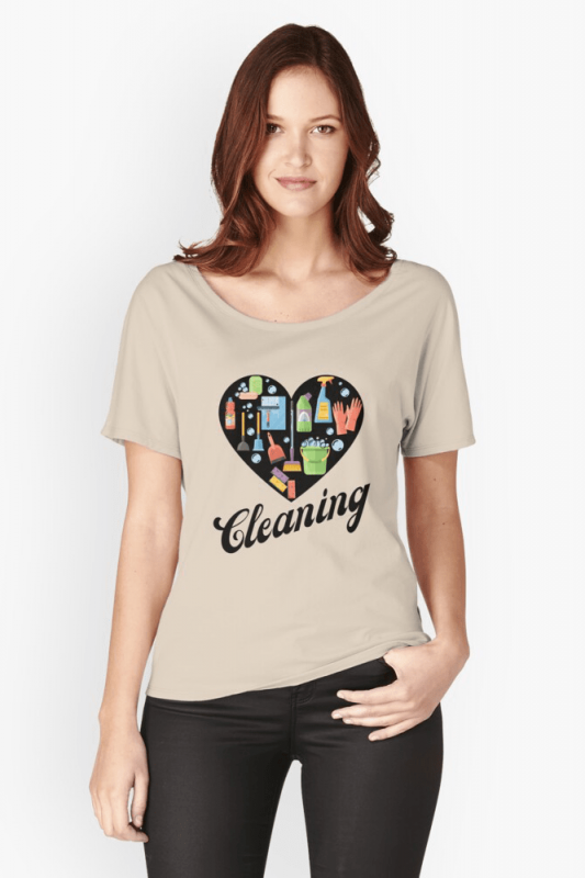 Heart Cleaning, Savvy Cleaner Funny Cleaning Shirts, Relaxed Fit Shirt