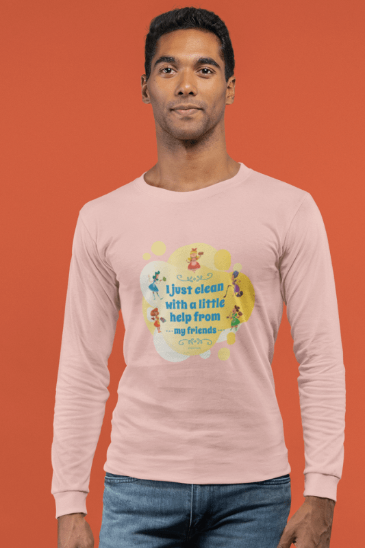 Help from My Friends Savvy Cleaner Funny Cleaning Shirts Classic Long Sleeve T-Shirt