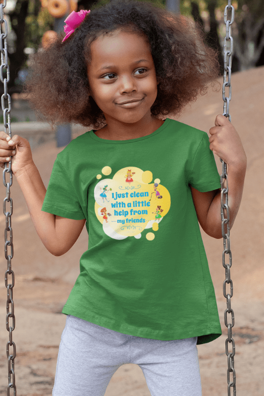 Help from My Friends Savvy Cleaner Funny Cleaning Shirts Kids Premium T-Shirt
