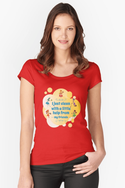Help from My Friends Savvy Cleaner Funny Cleaning Shirts Scoop Neck Tee