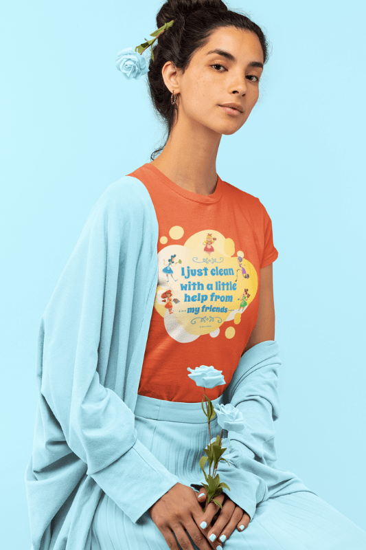 Help from My Friends Savvy Cleaner Funny Cleaning Shirts Standard T-Shirt
