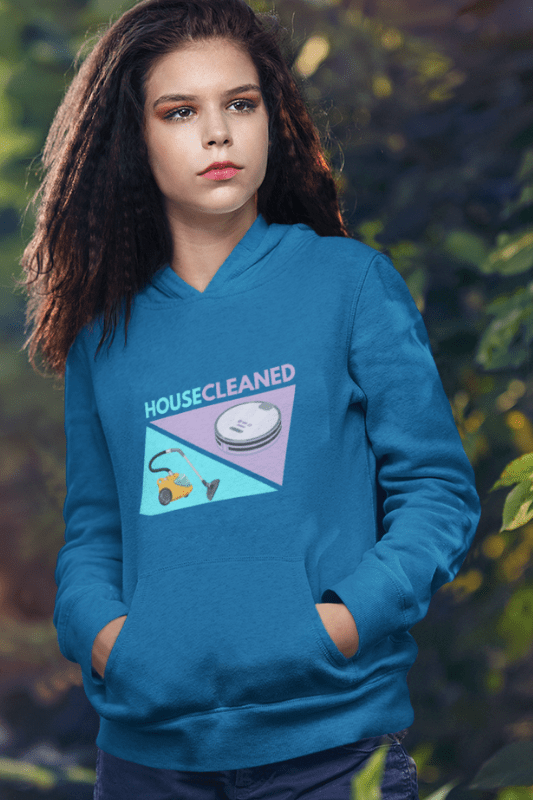 House Cleaned Vacuum Competition Savvy Cleaner Pullover Hoodie
