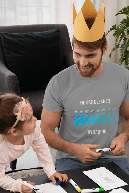 House Cleaner Uploading, Savvy Cleaner Funny Cleaning Shirts, Comfort t-shirt