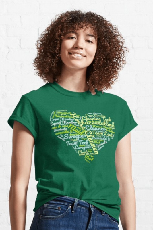 House Cleaner Wordcloud Savvy Cleaner Funny Cleaning Shirts Classic T-Shirt