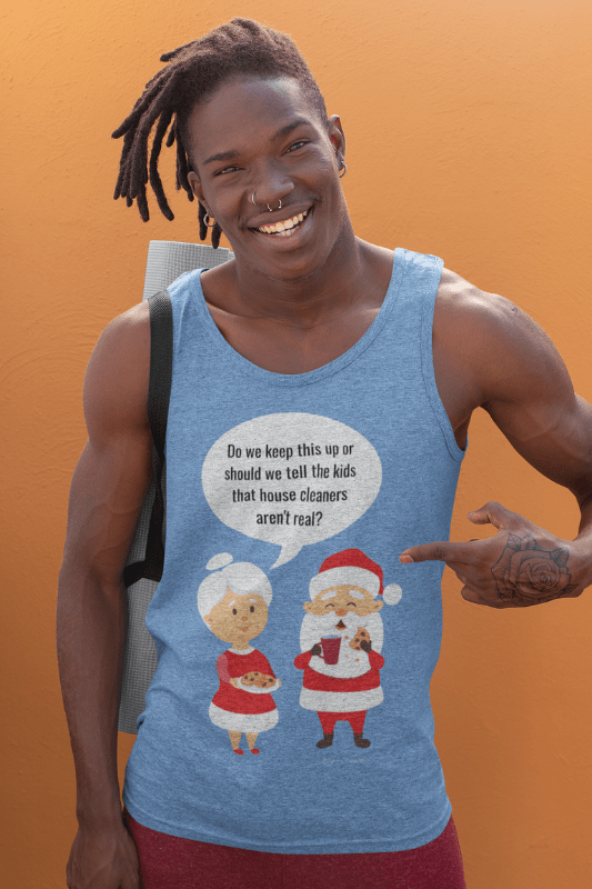 House Cleaners Aren't Real, Savvy Cleaner Funny Cleaning Shirts tank top