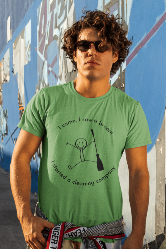 I Came I Saw A Broom I Started A Cleaning Company Savvy Cleaner Funny Cleaning Shirts Men's Standard T-Shirt