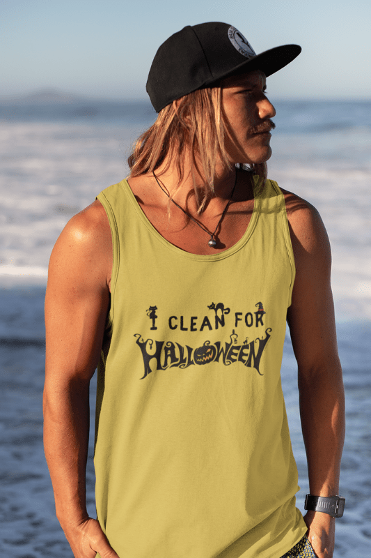 I Clean for Halloween, Savvy Cleaner Funny Cleaning Shirts, Classic Tank Top