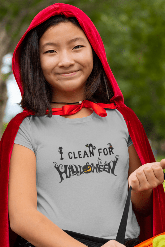 I Clean for Halloween, Savvy Cleaner Funny Cleaning Shirts, Kids Premium T-Shirt