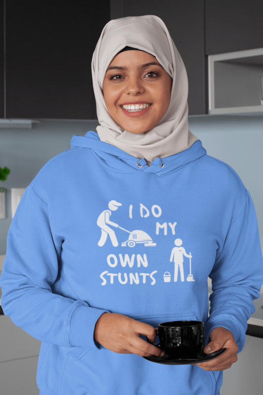 I Do My Own Stunts Savvy Cleaner Funny Cleaning Shirts Classic Pullover Hoodie