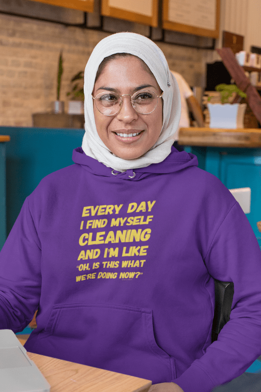 I Find Myself Cleaning, Savvy Cleaner Funny Cleaning Shirts, Classic Pullover Hoodie