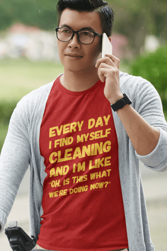 I Find Myself Cleaning, Savvy Cleaner Funny Cleaning Shirts, Classic T-Shirt