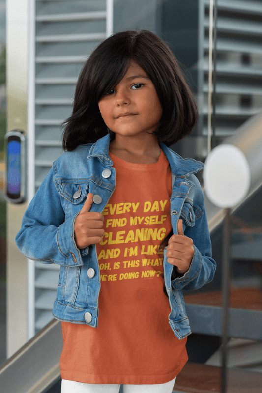 I Find Myself Cleaning, Savvy Cleaner Funny Cleaning Shirts, Kids Premium T-Shirt