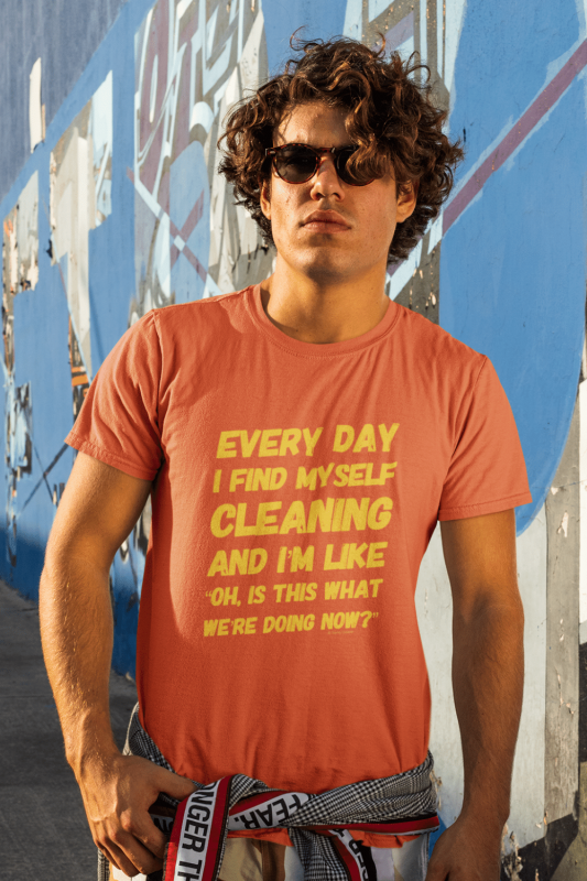 I Find Myself Cleaning Savvy Cleaner Funny Cleaning Shirts Men's Standard Tee