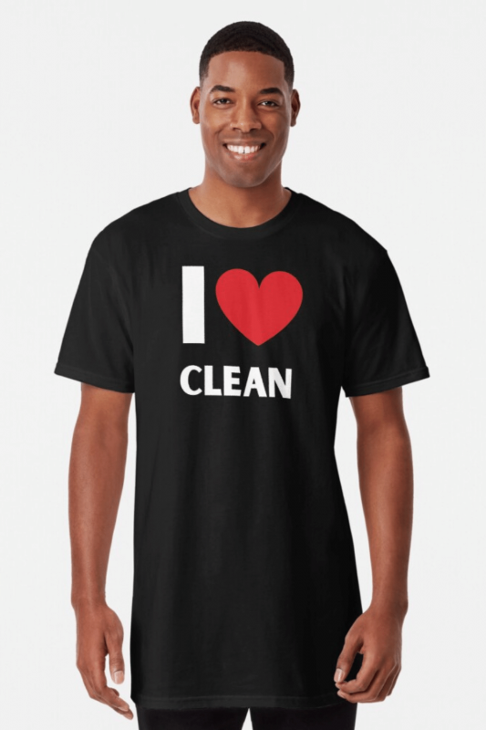 I Love Clean Savvy Cleaner Funny Cleaning Shirts Long Tee