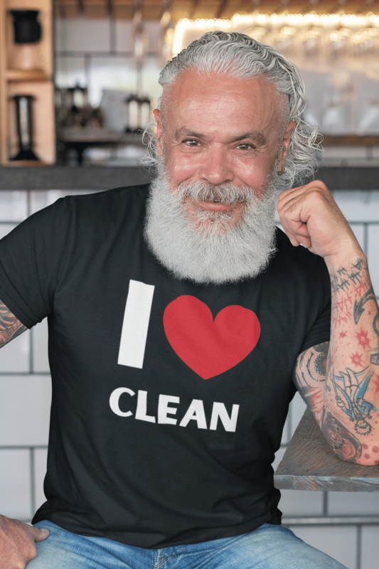I Love Clean Savvy Cleaner Funny Cleaning Shirts Men's Standard T-Shirt