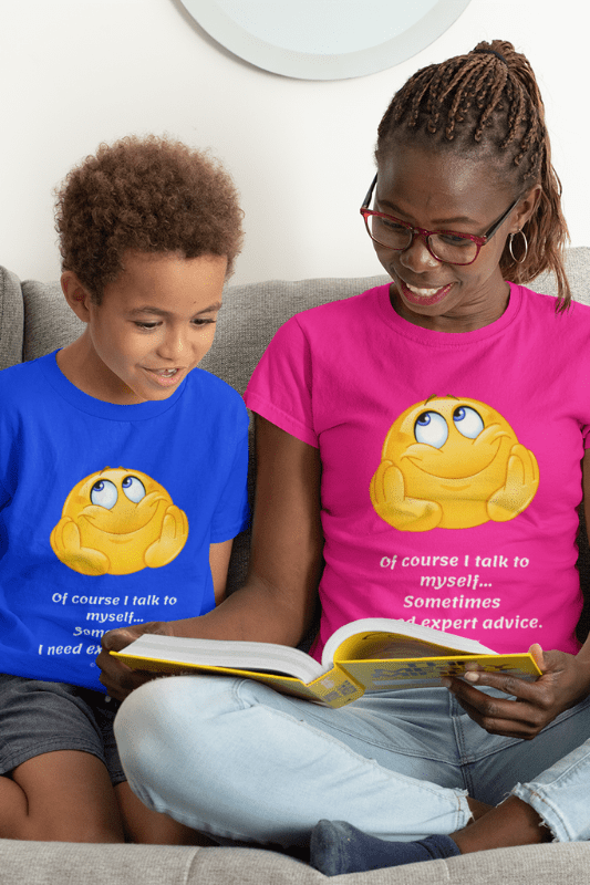 I Talk to My Self, Savvy Cleaner Funny Cleaning Shirts, Kids T-shirt
