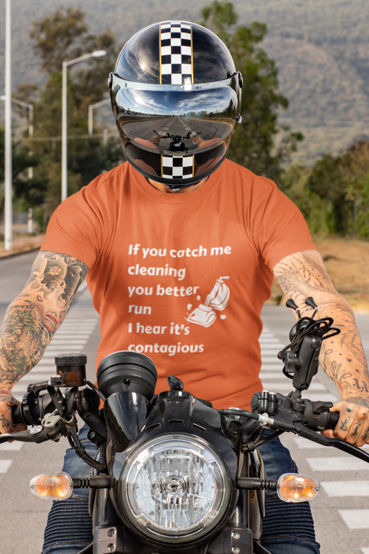 If You Catch Me Cleaning Savvy Cleaner Funny Cleaning Shirts Men's Standard Tee