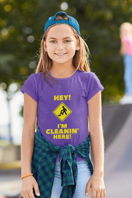 I'm Cleanin Here, Savvy Cleaner Funny Cleaning Shirts, Kids Premium T-Shirt