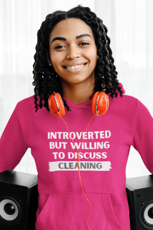 Introverted Savvy Cleaner Funny Cleaning Shirts Classic Pullover Hoodie