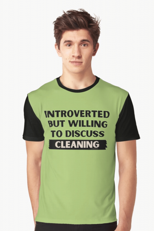 Introverted Savvy Cleaner Funny Cleaning Shirts Graphic Tee