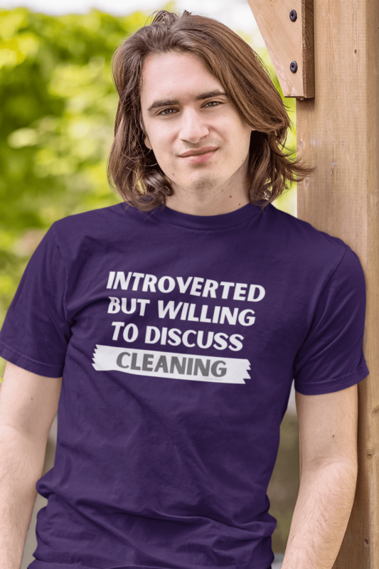 Introverted Savvy Cleaner Funny Cleaning Shirts Men's Standard Tee
