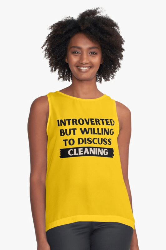 Introverted Savvy Cleaner Funny Cleaning Shirts Sleeveless Top