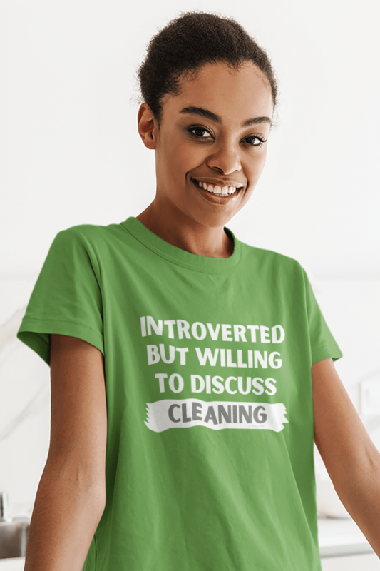Introverted Savvy Cleaner Funny Cleaning Shirts Women's Standard Tee