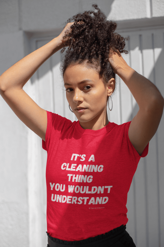 It's a Cleaning Thing, Savvy Cleaner, Funny Cleaning Shirts, Womans Boyfriend T-Shirt