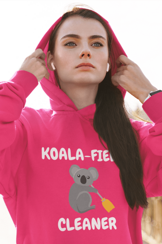 Koalafied Cleaner Savvy Cleaner Funny Cleaning Shirts Classic Pullover Hoodie