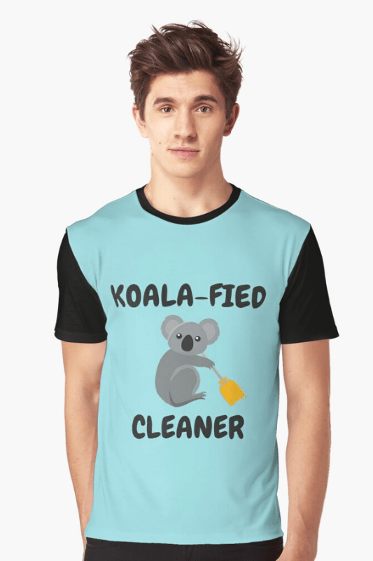 Koalafied Cleaner Savvy Cleaner Funny Cleaning Shirts Graphic Tee